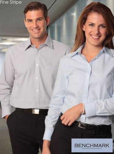 Womens Fine Stripe L/S Shirt