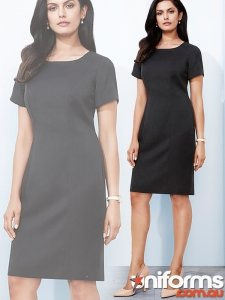 Ladies Short Sleeve Shift Dress