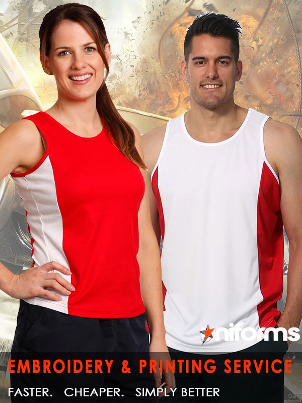 uniforms Trainers Contrast Singlet